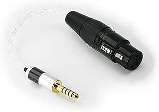 NewFantasia 4.4mm Male to 4-pin XLR Balanced Female Silver Plated Headphone Audio Adapter for Sony WM1A, NW-WM1Z, PHA-2A