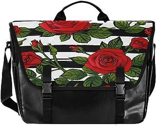 Bolso de lona para hombre y mujer, diseño de rayas, color negro y blanco