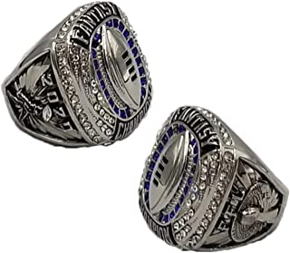 2020 Fantasy Football Champion Ring - Gold or Silver Finish | Heavy FFL League Champ Ring with Stand - Decade Awards