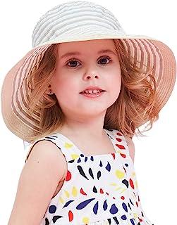 Connectyle Kids Large Brim Sun Protection Hat Foldable Beach Sun Hats for Girls