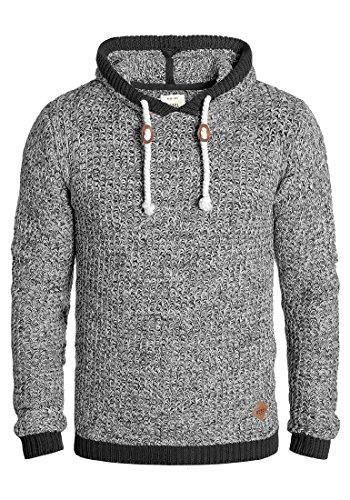 Redefined Rebel Manne Jersey De Punto Suéter Sudadera De Punto Grueso con Capucha para Hombre con Capucha De 100% algodón, tamaño:M, Color:Grey