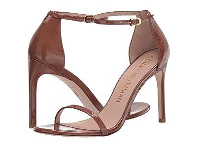 Stuart Weitzman Nudistsong Ankle Strap Sandal (Cappuccino Patent) Women