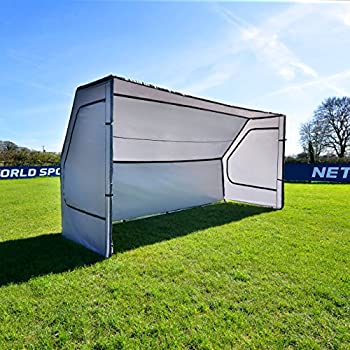 Net World Sports Portable Soccer Team Shelter   Weatherproof Pop-Up Soccer Dugout - Soccer Game Day Equipment