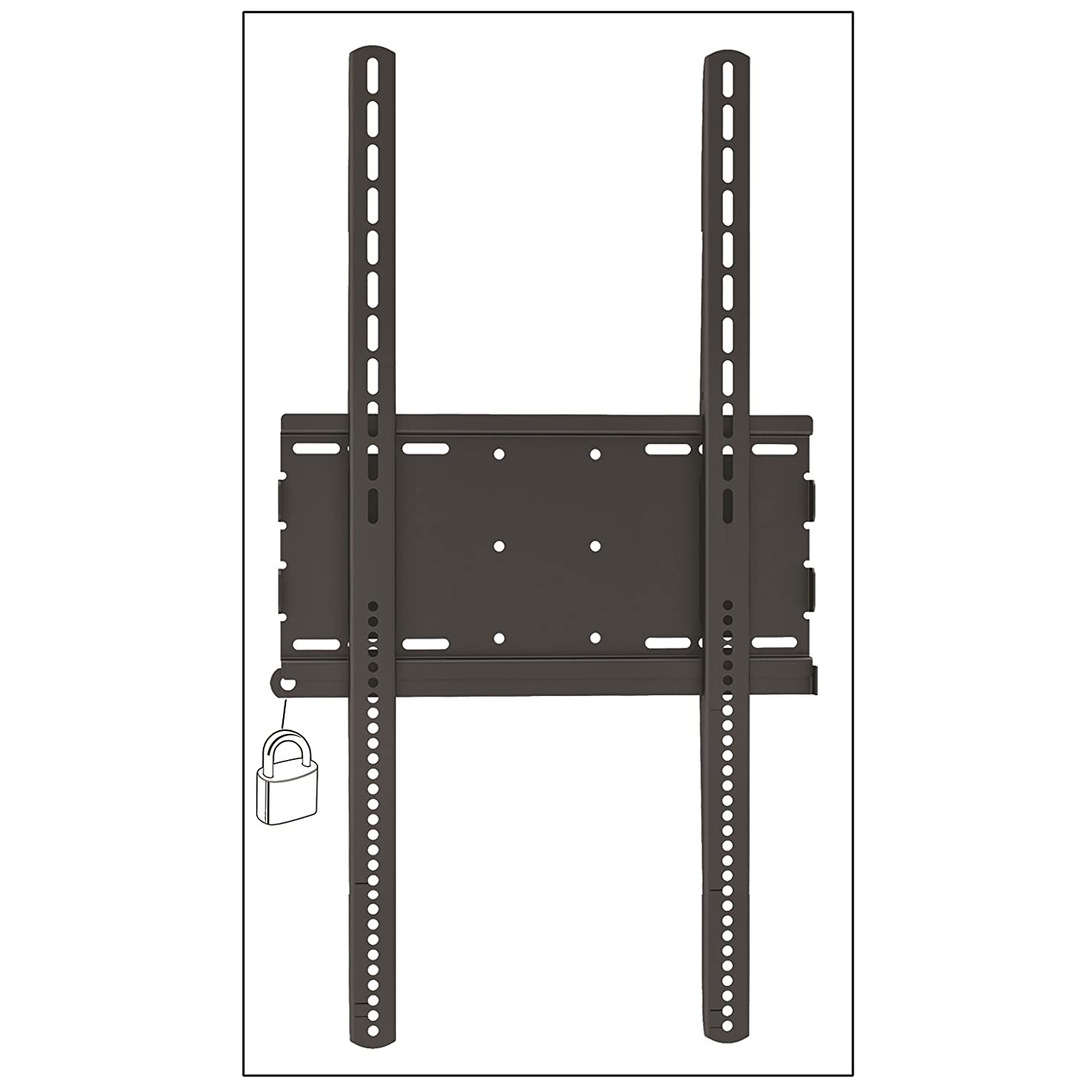 Master Mounts 3064F Vertical/Portrait Locakable Fixed/Flat TV Wall Mount, Commercial Use - Holds TVs as Signage, Menu Boards, and Creative Video Displays, Fits up to 70
