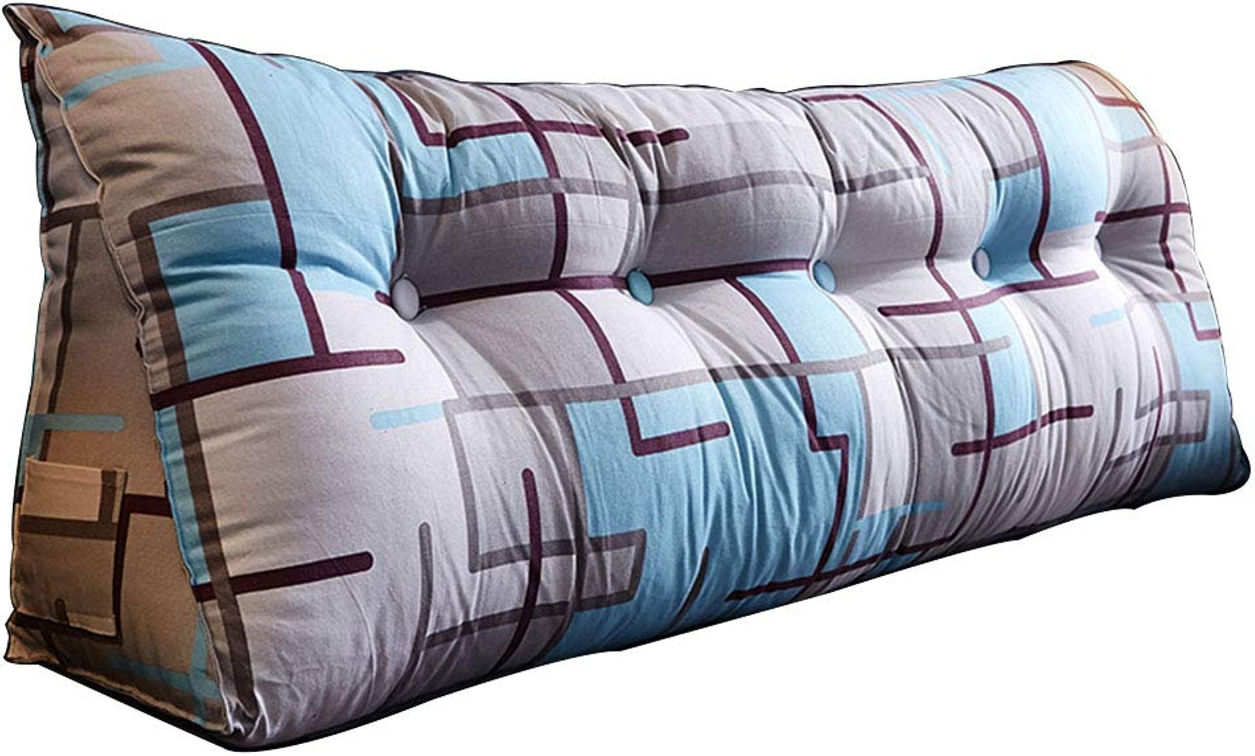 SACYSAC Tête de lit Grand Coussin Long Oreiller Sac Doux Double Taille Grand Dossier,Parquet,90  23  45cm