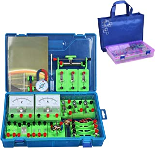 DIY Circuit Kit STEM Physics Science Lab Basic Circuit Learning Starter Kit Educational Physics Model with Case Electricit...