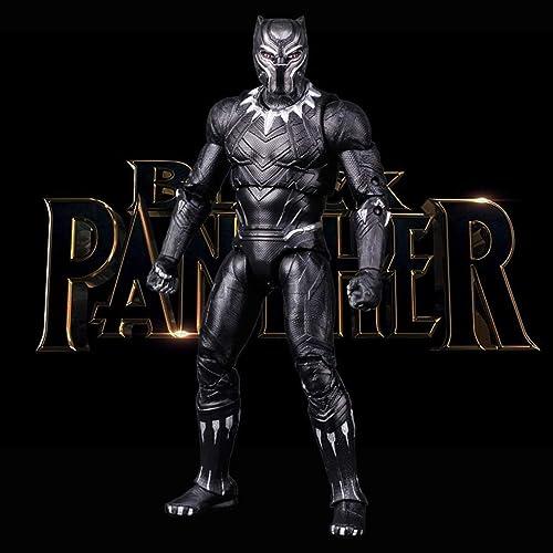 JTWMY Toy Model Movie Character Avengers Ornamente Souvenir Sammlerstücke Kunsthandwerk Geschenke schwarz Panther 18cm Toy Statue