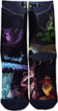 EveninSky Men's Women's Custom Pokemon Creative Casual Crew Socks