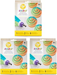 Wilton Color Swirl 3-Color Coupler 9-Piece Decorating Kit, 3