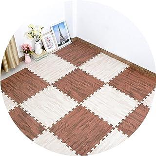 YANGJUN Foam Floor Mats For Kids Foam Play Mat Tiles Non-slip Wear Resistant Waterproof Easy To Clean Wood Grain Splice Ho...