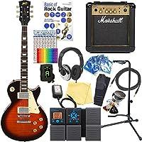 エレキギター 初心者 レスポールタイプ Blitz BLP-450 VS マーシャルアンプ付18点セット 【ZOOM G1Xon マルチエフェクター付】