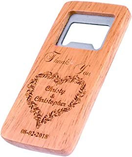 Personalized Wedding Favors Wooden Bottle Opener, Custom Groomsman Gifts, Party Favors, Best Man Gifts