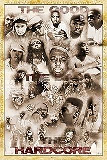 Rap Legends (Little Wayne, Jay-Z, Nas, NWA, The Beastie Boys, Wu Tang Clan, Outkast, 50 Cent, Biggie Smalls, 2Pac...) Retro Poster 24