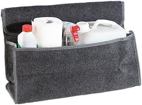 Lescars Kofferraumtasche Klett: Anti-Rutsch-Kofferraumtasche mit Klettbefestigung Large (Kofferraum Organizer Klett)