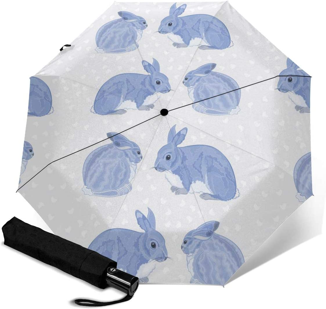 Automatic Tri-Fold Limited time trial price Umbrella Rabbits Snow Max 72% OFF Windproof Travel Umbrel