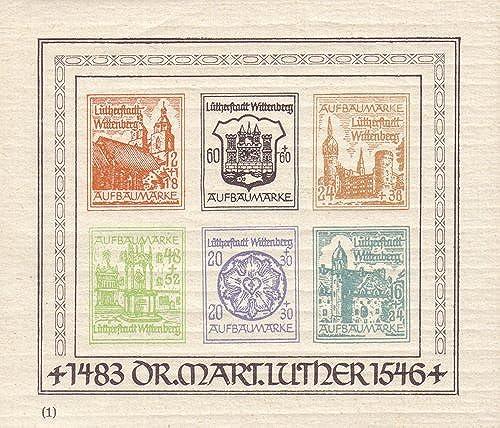 Goldhahn Deutsche Lokalausgabe Wittenberg Lutherstadt Block I postfrisch Briefmarken für Sammler