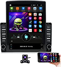 Hikity Double Din Android Car Stereo Tesla Styel Vertical 9.7 Inch Touchascreen Bluetooth FM Radio Support WiFi Connect Mi...