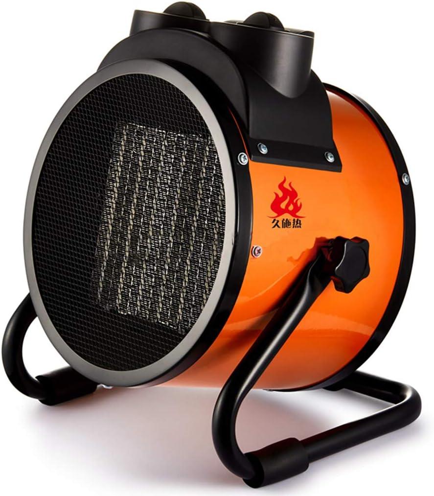 Calentador Calentador-Calentador de Aire portátil Industrial Especial, calefacción de cerámica, termostato autónomo, secador portátil, 5000 vatios, Negro (Size : 380V/5000W)