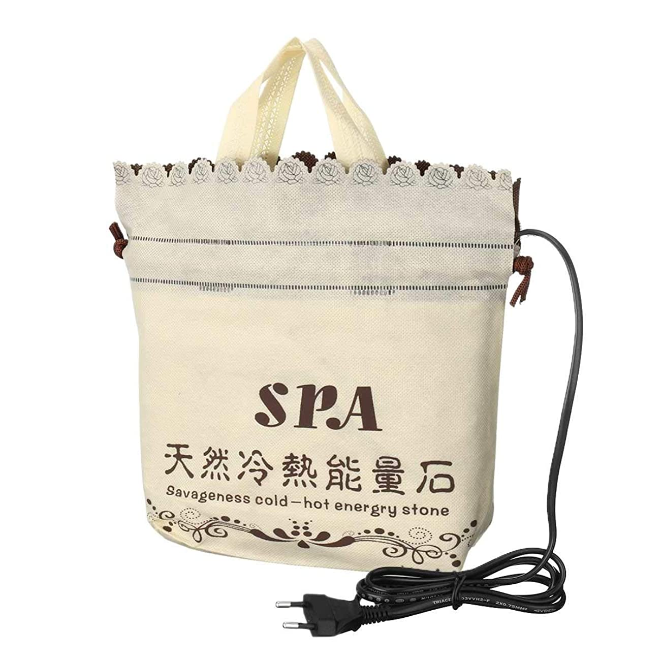 スペイン学校の先生ツールPlug Heater Bag Spa Stones Warmer Bag for Massage Stones Massage Salon SPA Lava Natural Energy Massage Stone