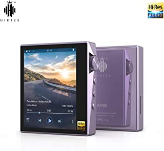 HIDIZS AP80 Hi-Res Music Player Hi-Fi Lossless Bluetooth MP3 Player Portable High Resolution Digital Audio Player with Full Touch Screen (Purple)