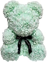 The Teddy Rose-10 Inches Mint Green Rose Hand Made Artificial Teddy Bear For Graduation, Valentine's Day, Father's Day, Mother's Day, Graduation, Christmas, Anniversary, Birthday, Wedding, Baby Shower
