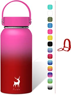 Slo Life Stainless Steel Water Bottle Wide Mouth Vacuum Insulated Double Wall Sport Bottle for Travel Camping Multicolor