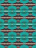 Missouri River Native American Style Fleece Blanket - Heritage Turquoise