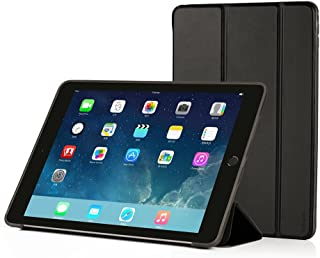 RUBAN iPad Air Case (2013 Release) - Ultra Slim Lightweight Smart Cover Case with Anti-Scratch Non-Slip Flexible Soft TPU Back Cover with Auto Sleep/Wake for Apple iPad Air/iPad 5, Black