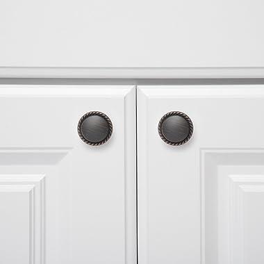 Amazon Basics Round Braided Cabinet Knob, 1.14-inch Diameter, Oil Rubbed Bronze, 10-Pack