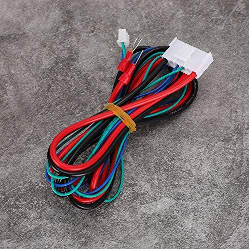 Leftwei Práctico Cable de alimentación para Cama con calefacción, Cable de alimentación Estable para Cama Caliente de 90 cm para Anet A8 A6 A2 A3 E12 E10