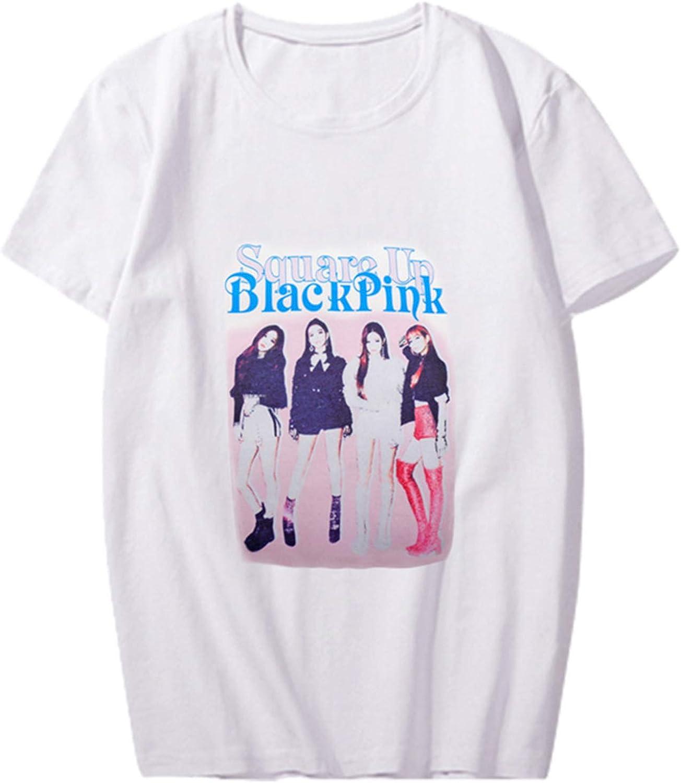 Kpop Blackpink T-Shirt Women Men Crew Neck Casual Tee Lisa Jennie Jisoo Rose Top