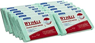 WypAll 94164 WypAll Green Colour Coded Heavy Duty Cloths, 20 Wipers/Pack, Case of 12 Packs, Green 3.960 kilograms