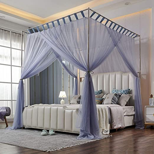 lynndre bed curtains canopy 4 corner