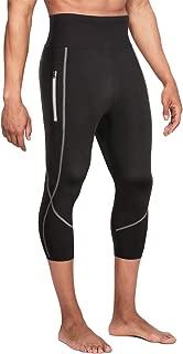 Wonderience Men Neoprene Slimming Pants for Weight Loss Hot Thermo Sauna Sweat Capri Fitness Workout Body Shaper