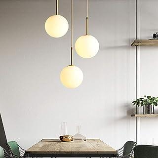 Lustre boule en verre,Lampe suspension, Lampe intérieur simple pour Chambre Salon Couloir Restaurant Café 1pcs (25CM)