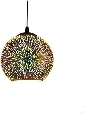 Ledph Neu Im Jahr 2020 Pendelleuchte 3D Feuerwerk Kronleuchter Echtglas H/ängeleuchte Modern H/ängelampe H/öhenverstellbar Leuchtmittel E27 Industrial Deckenleuchte F/ür Esszimmer//Wohnzimmer//K/üche,A/ø22cm