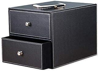 WECDS-E Classeur à dossiers Classeurs Plats 2 tiroirs Unité à tiroirs en Cuir écologique Trieur de Papier de Bureau Organi...