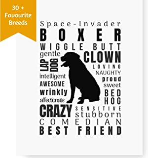 Dog Décor Boxer Print - Wall Art Quotes for Home (8.5x11 Unframed) | Dog Memorial Gifts | Dog Mom Gifts | New Boxer Puppy | Keepsake Gifts for Dog Lovers