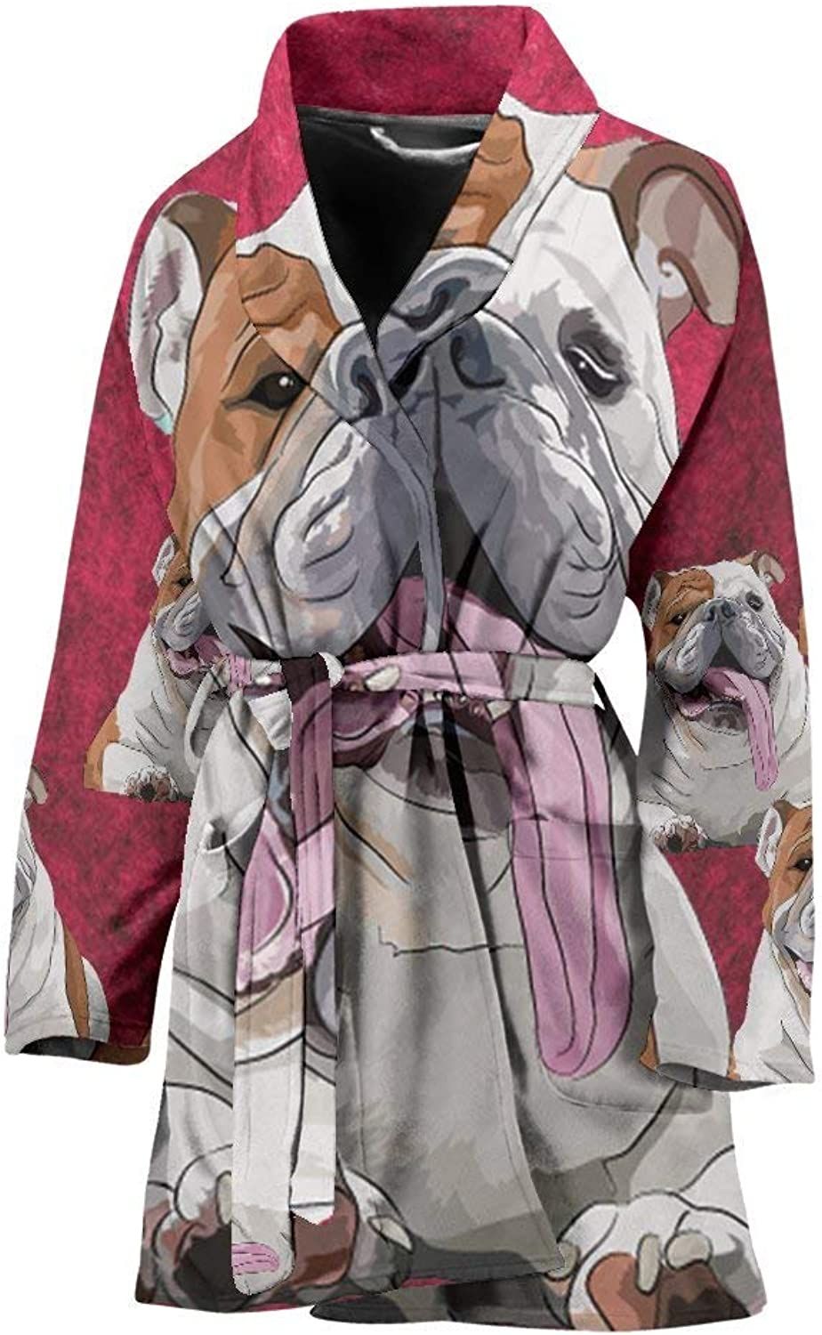 Pawfeel Amazing Bulldog Art Print Women's Bath Robe