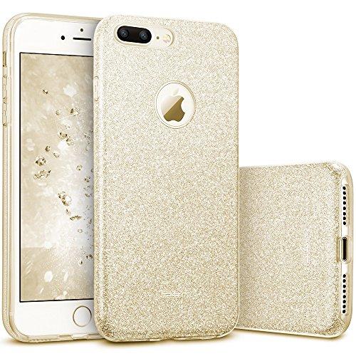 ESR iPhone 7 Plus Schutzhülle, glitzernd, glitzernd, dreilagig, für Mädchen & Damen, stoßdämpfend, 14 cm (5,5 Zoll) iPhone 7 Plus (2016 Release) (Champagner)