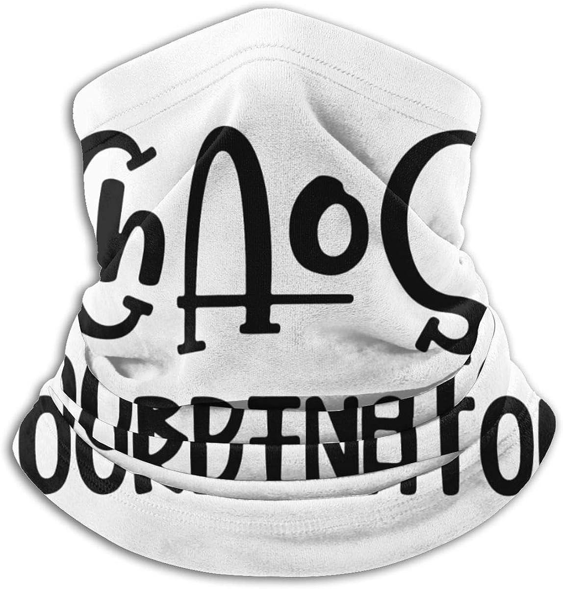 Chaos Coordinator Black Multi-function Neck Warmer Gaiter Polyester Neck Warmer Windproof Winter Neck Gaiter Cold Weather Scarf For Men Women