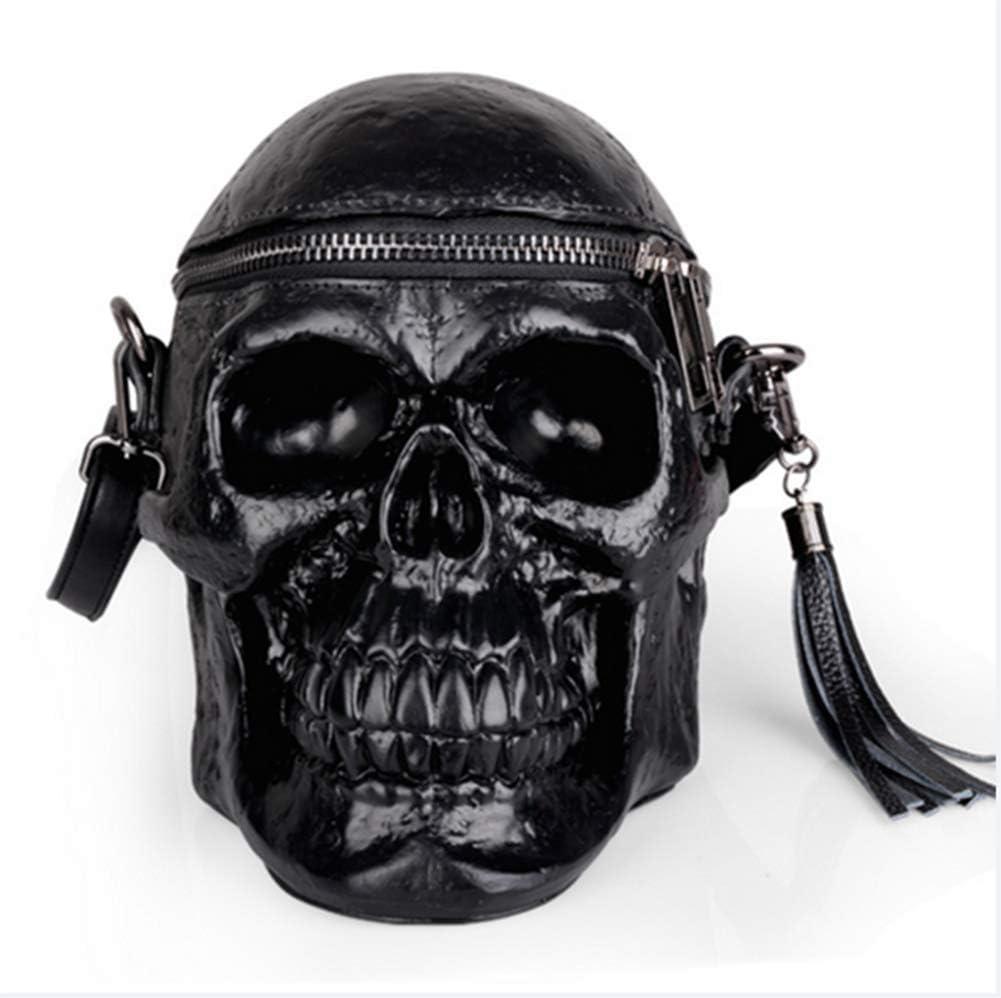 HFL Sac personnalisé Crâne, Sac à bandoulière en Silicone, Mode Sac à bandoulière,Noir Black