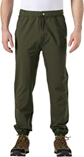 TBMPOY Men's Elastic Bottom Running Pants Lightweight Quick Dry Hiking Jogger Trousers
