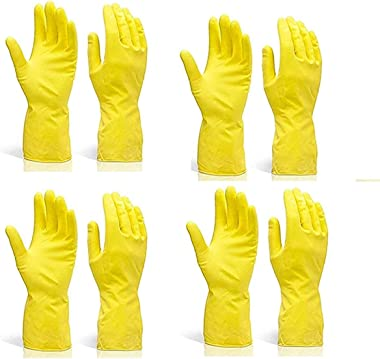 Pehel International ®   Reusable Natural Latex Safety Gloves   for Washing, Cleaning, Kitchen, Garden, Sanitation & Other
