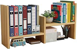 Bookshelf, Desktop Shelf, Office File Storage Rack, For Living Room, Bedroom, Study, Home Storage XJJUN (Color : Wood, Siz...