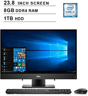 2019 Dell Inspiron 3000 23.8 Inch Full HD Touchscreen All-in-One Desktop (Intel Core i3-7130U 2.7GHz, Dual Cores, 8GB DDR4 RAM, 1TB HDD, WiFi, Bluetooth, HDMI, Windows 10) (Black)