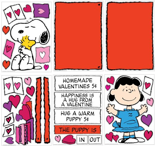 Eureka Teacher Supplies Snoopy Peanuts Valentine Bulletin Board Set, 38 pcs Photo #3