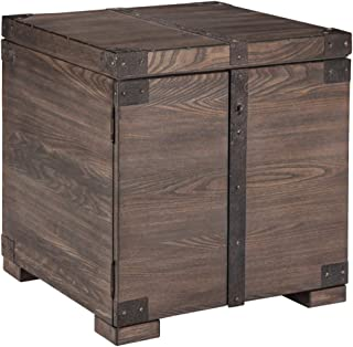 Signature Design by Ashley Burladen Square End Table Grayish Brown