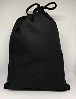 Cotton Muslin Bags, Single Drawstring Premium Quality Eco Friendly Black Reusable Muslin Bags. Pack of 100. (10x12 Inhces)