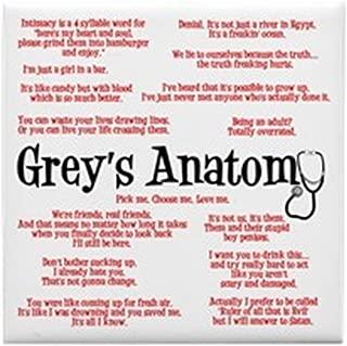 CafePress - Grey's Anatomy Quotes - Tile Coaster, Drink Coaster, Small Trivet